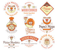 Handmade and wood cooked pizza colored Stock Image