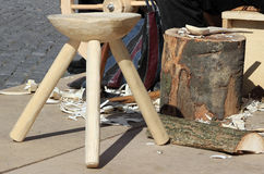 Handmade wood products Royalty Free Stock Images