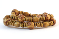 Handmade Wooden beads Royalty Free Stock Image