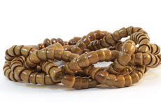 Handmade Wooden beads Stock Images