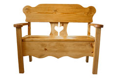 Handmade Wooden Bench Royalty Free Stock Image
