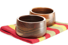 Handmade Wooden Bowls Stock Image