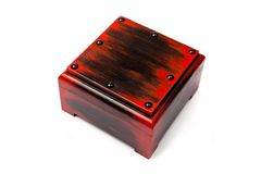 Handmade wooden box Royalty Free Stock Images