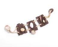 Handmade wooden bracelet Stock Photo