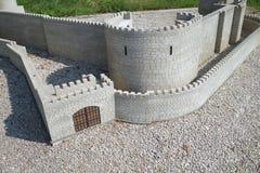 Handmade wooden castle Stock Image