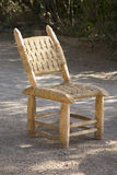 Handmade Wooden Chair Royalty Free Stock Images