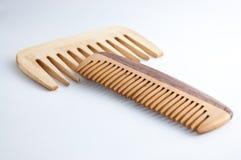 Handmade wooden comb (hairbrush) Stock Photos