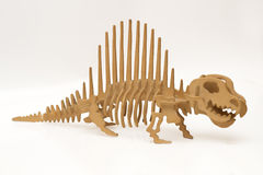Handmade wooden dinosaur Royalty Free Stock Photography