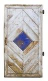 Handmade wooden door isolated Royalty Free Stock Image