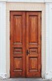 Handmade Wooden Double Door Royalty Free Stock Images