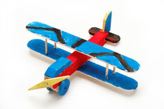 Handmade wooden model airplane. Stock Images