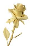 Handmade wooden rose. Flover isolated on white background Stock Image