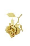 Handmade wooden rose flover. On white background Royalty Free Stock Image