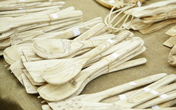 Handmade wooden spoons Stock Image