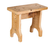 Handmade wooden stool Royalty Free Stock Photo