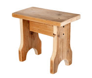 Handmade wooden stool Royalty Free Stock Photos