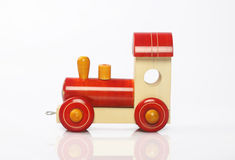 Handmade Wooden Train Stock Photography