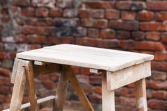 Handmade wooden trestle Stock Photos