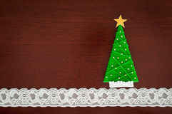 Handmade wool Christmas tree. Royalty Free Stock Photos