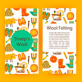 Handmade wool products brochure template Royalty Free Stock Photography