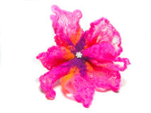 Handmade woolen flower Stock Images