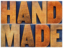 Handmade word abstract in wood type Stock Images