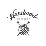 Handmade workshop logo vintage  Royalty Free Stock Image