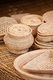 Handmade woven dishes Stock Images