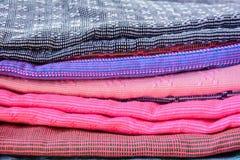 Handmade woven fabrics Stock Image