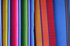 Handmade woven Guatemalan textiles. Royalty Free Stock Photos