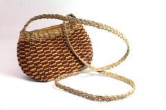 Handmade woven hand bag Stock Image