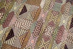 Handmade woven rug Stock Photography