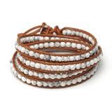 Handmade wrap bracelet Stock Photo