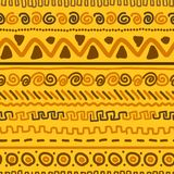 Handmade wzór z etnicznym geometrycznym ornamentem Zdjęcie Stock