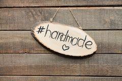 Handmade znak dla kreatywnie pracy obrazy stock
