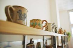Handmage ceramic mugs Stock Photos