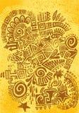 Handmage mexicanskt klotter Royaltyfri Bild