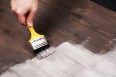 Handmalerei auf Holztisch Lizenzfreie Stockbilder