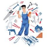 Handman com ferramentas Imagem de Stock Royalty Free