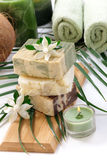 Handmand Natural Soap Stock Image