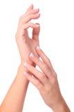 handmanicurekvinna Royaltyfri Bild