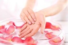 Handmassageöl Stockbild