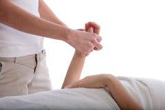 Handmassage Stockfoto
