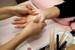 Handmassage Stockbild