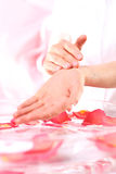 Handmassage, Acupressure Stockfoto