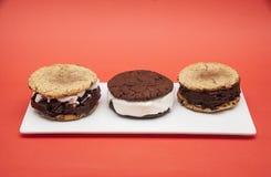 Handmeade-Eiscremesandwich stockfotos
