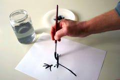 handmålning Arkivbilder