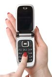 handmobiltelefon royaltyfri foto