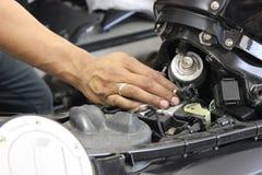 Handmotorcykel efter försäljningar Royaltyfria Bilder