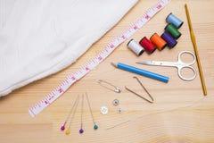 Handnähende Werkzeuge Lizenzfreies Stockfoto